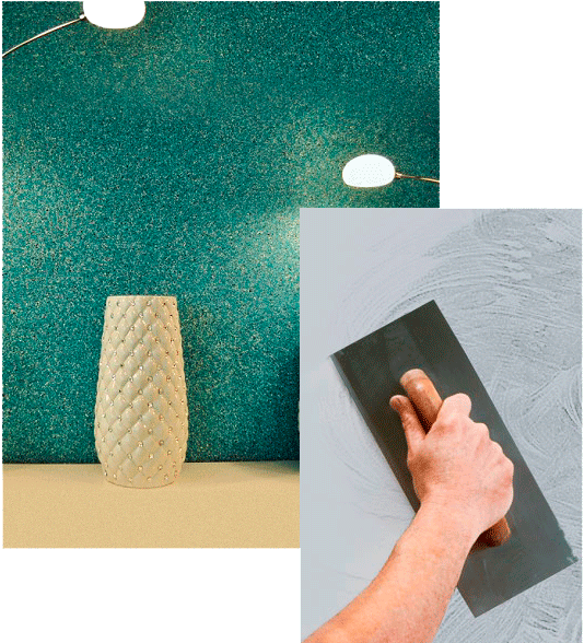 Нанесение шелковой декоративной штукатурки