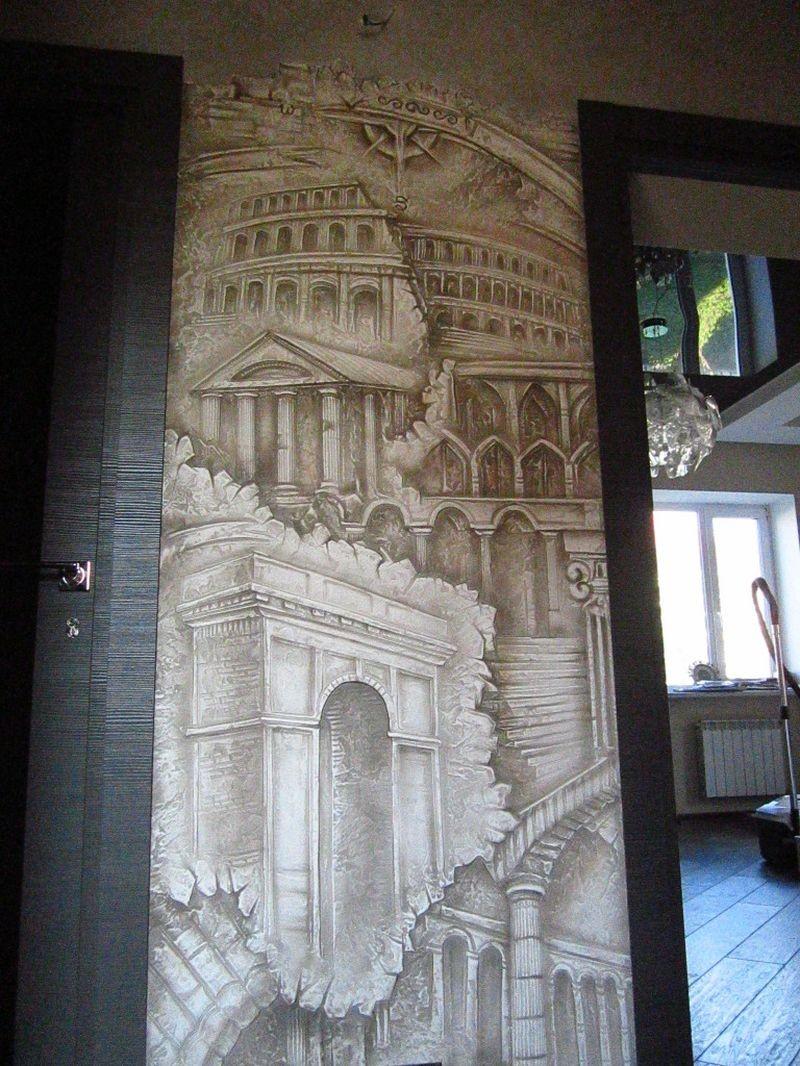 Барельеф с изображением памятников архитектуры целиком