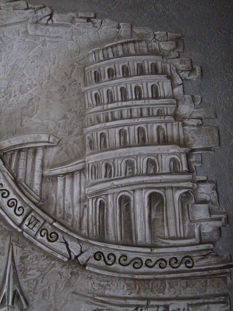 Архитектурые памятнике в барельефе