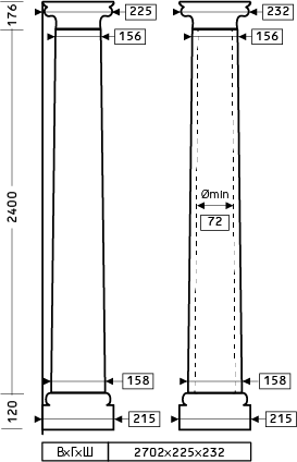 Размеры колонны 1.30.302