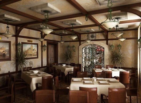 Ресторанный интерьер