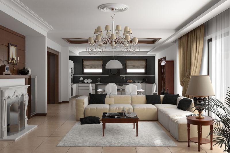 Лепной декор Европласт в гостиной