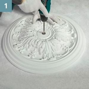 Просверлить в изделии отверстие необходимого диаметра