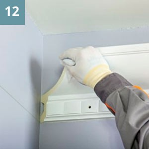 Очистить увлажненной тканью от пыли и других загрязнений торцы стыкуемых изделий.