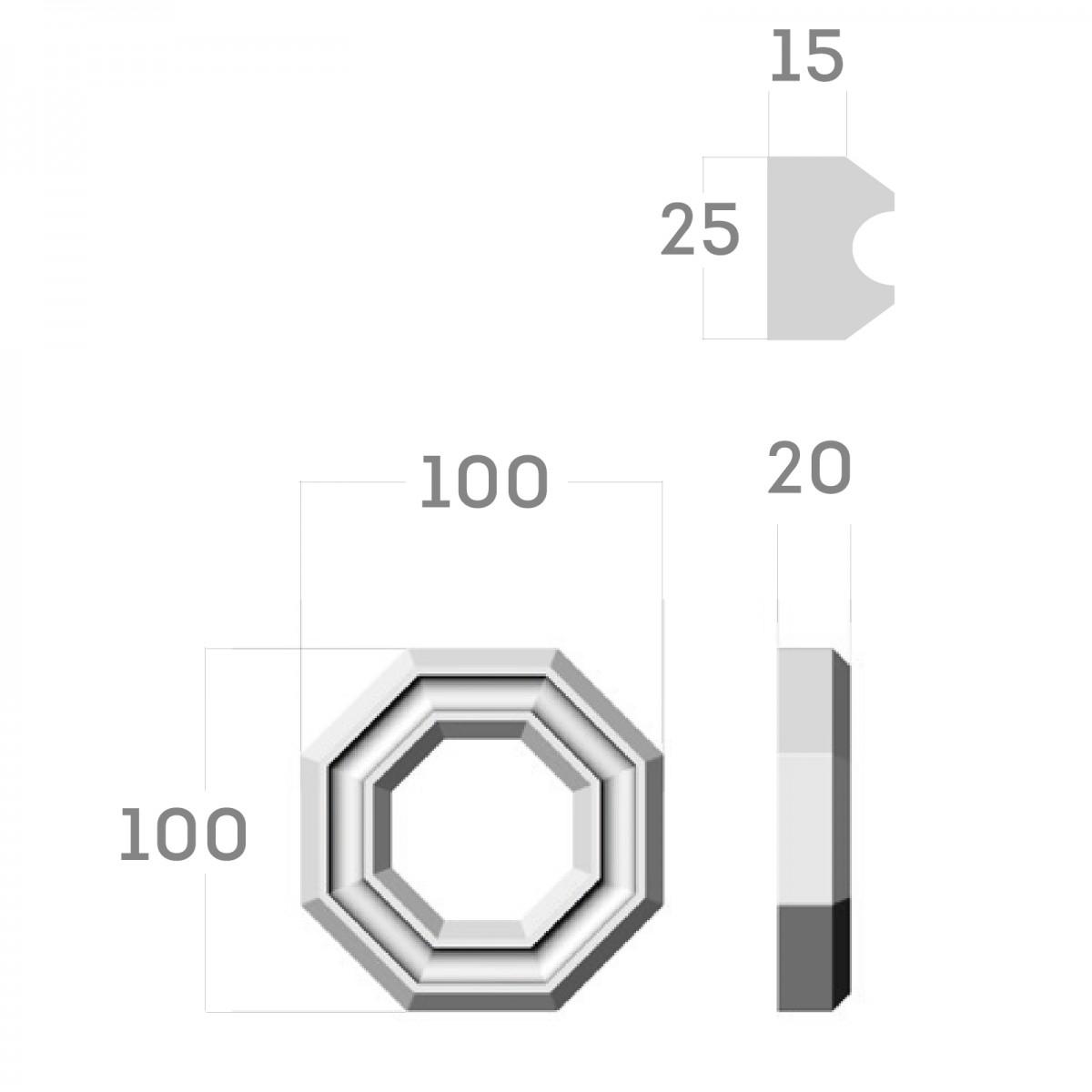 Соединительный элемент RODECOR Ар-Деко 09101AR