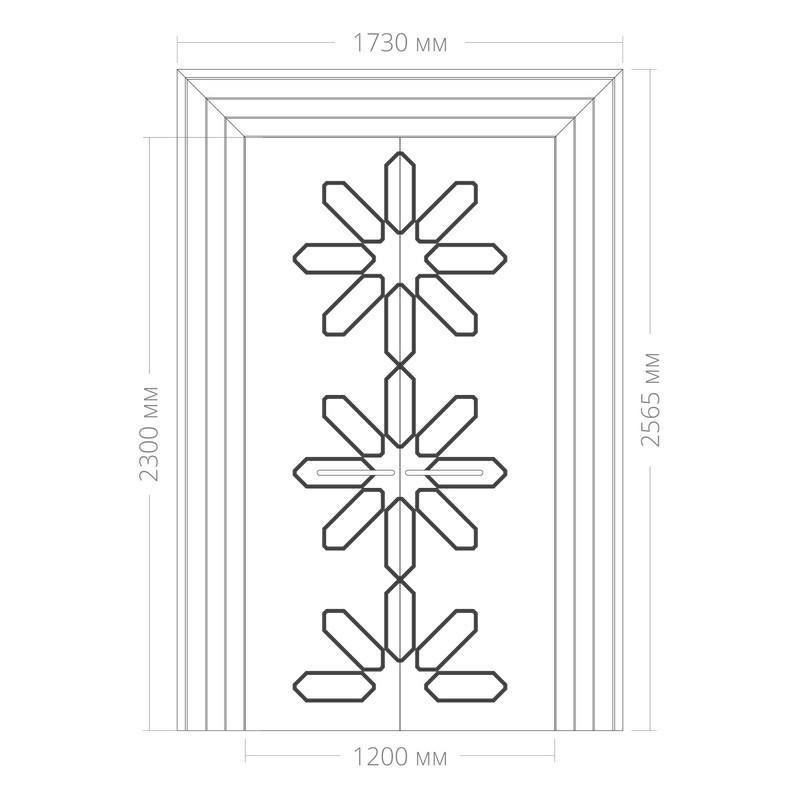 Оформление дверей RODECOR Набоков 76412AR