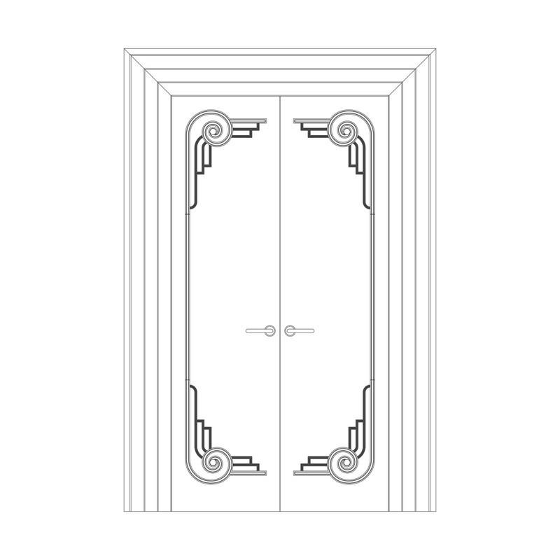Оформление дверей RODECOR Рамбова 76424AR