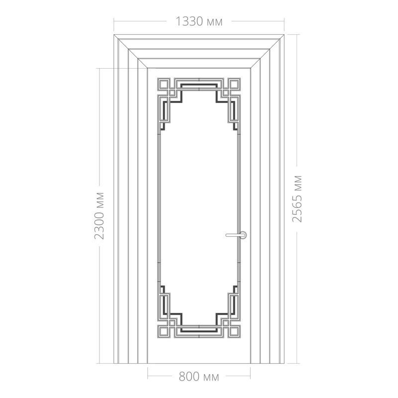 Оформление дверей RODECOR Эрте 76443AR