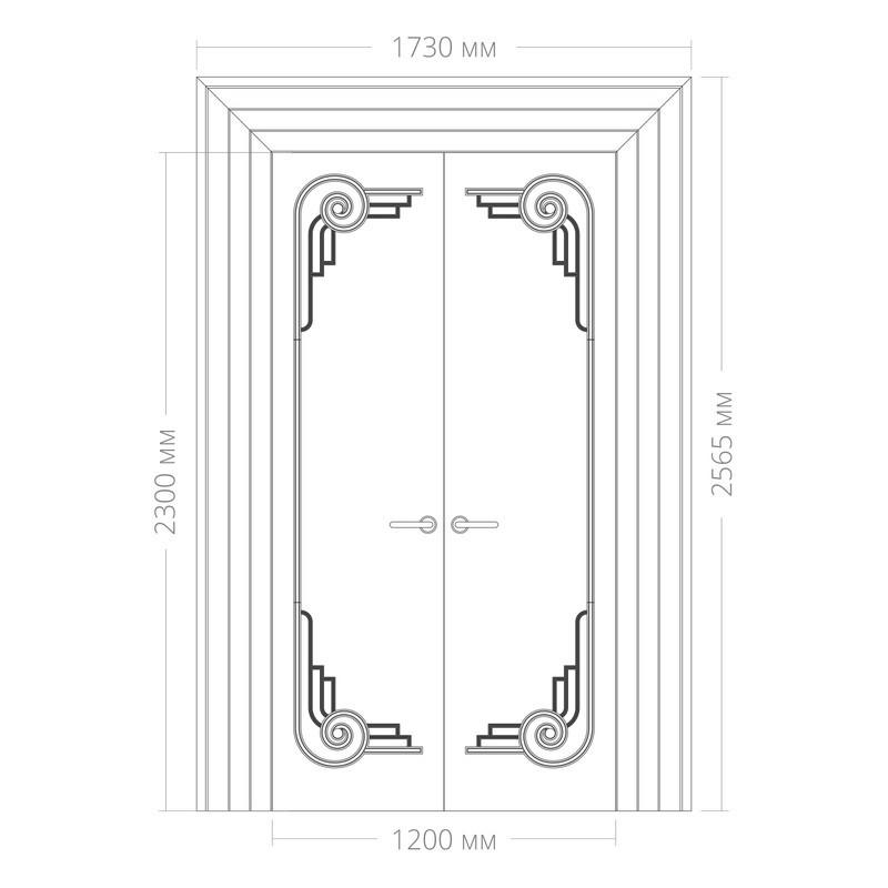 Оформление дверей RODECOR Эрте 76444AR