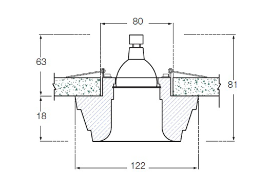 Гипсовый светильник SV 7016