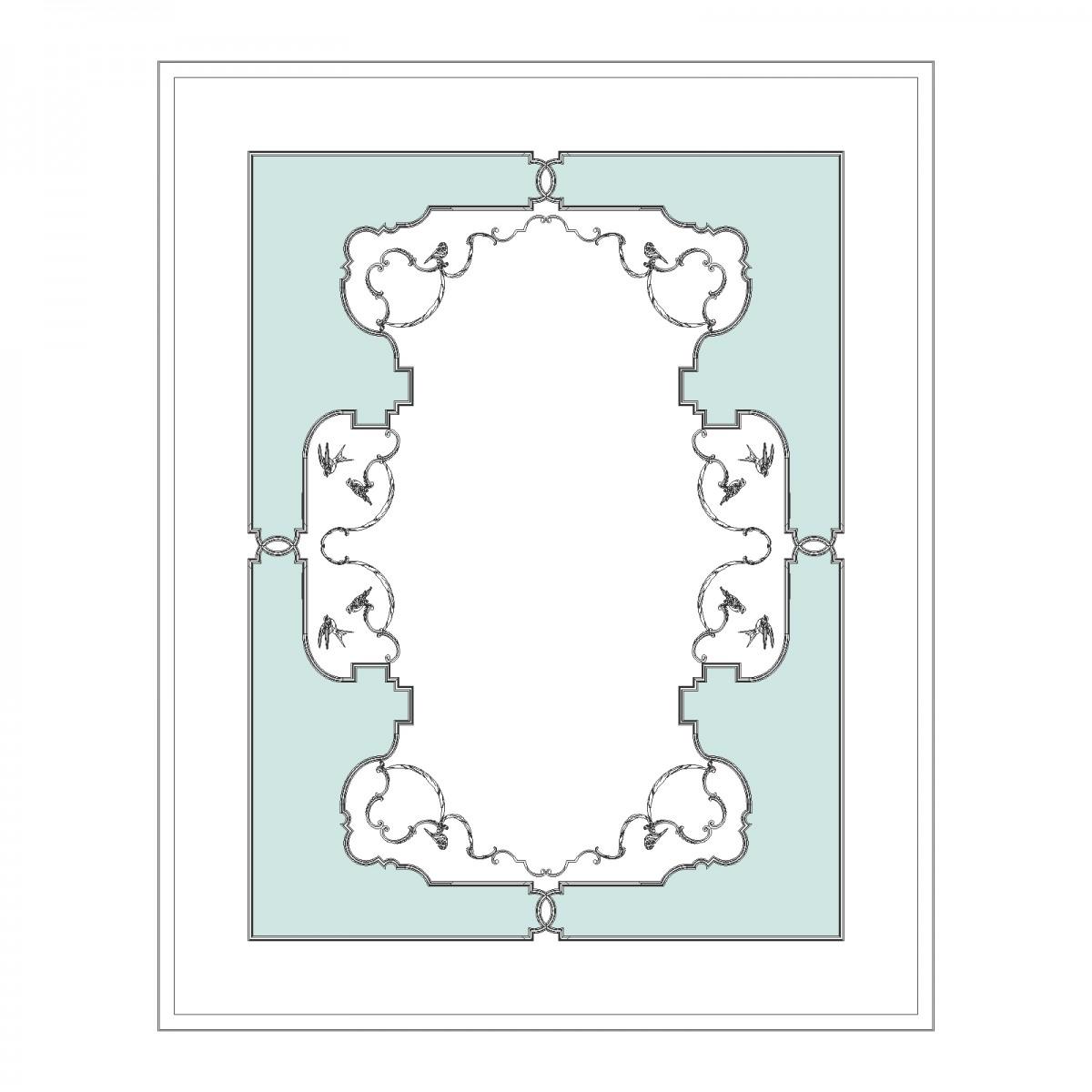 Потолок RODECOR Камелия Ф1 88011CN