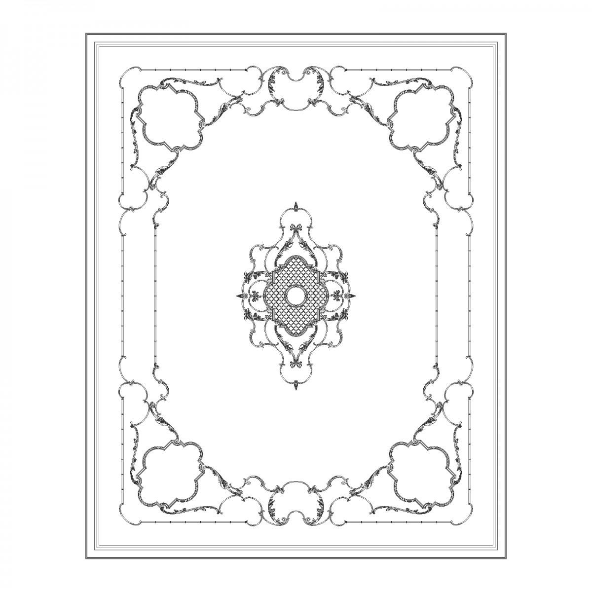 Потолок RODECOR Камелия Ф2 88012CN