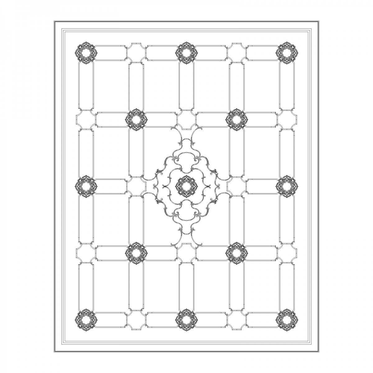Потолок RODECOR Пагода Ф3 88033CN